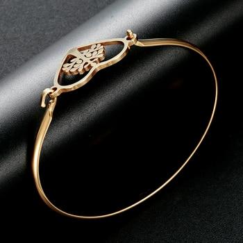 Bracelet Arbre De Vie Or Blanc