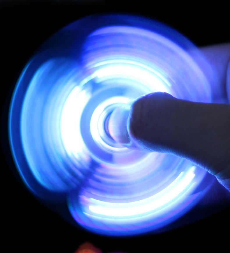 Унисекс свет Спиннер Led стресс ручной Спиннер Figet Спиннер кубик развивающий антистресс Спиннер на палец аутизм мальчик ручной Спиннер