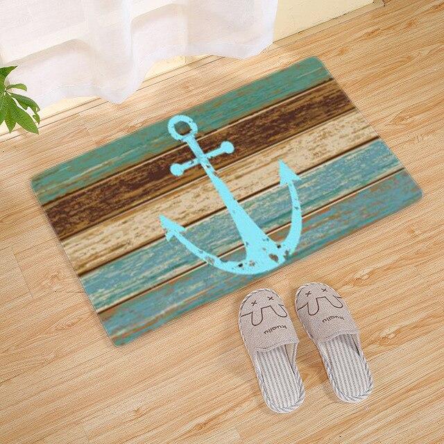 Envío de la gota Vintage Retro ancla náutica alfombra turquesa ...