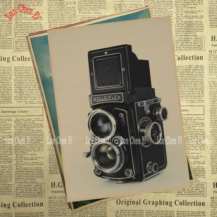 Vintage camera Matte Kraft Paper Poster Office Gift Room Dining Home Decor wall sticker  ...