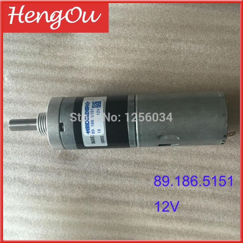 1 piece Heidelberg GTO Registration motor 89.186.5151/01, 12V printing motor