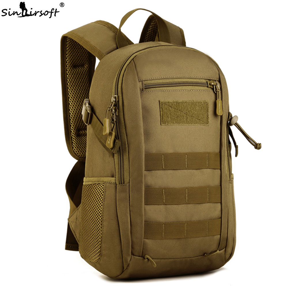 SINAIRSOFT Military Tactics Backpack Nylon Molle Rucksack Bag 12L Camouflage Travel for Outdoor Sport hunting waterproof LY0091 outdoors waterproof nylon backpacks molle tactics backpacks laptop backpacks military backpack rucksacks travel bag pack