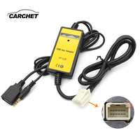 CARCHET USB+AUX Audio Cable Car MP3 Audio Digital Disc Box USB AUX Adapter 3.5mm AUX interface CD Changer for Toyota