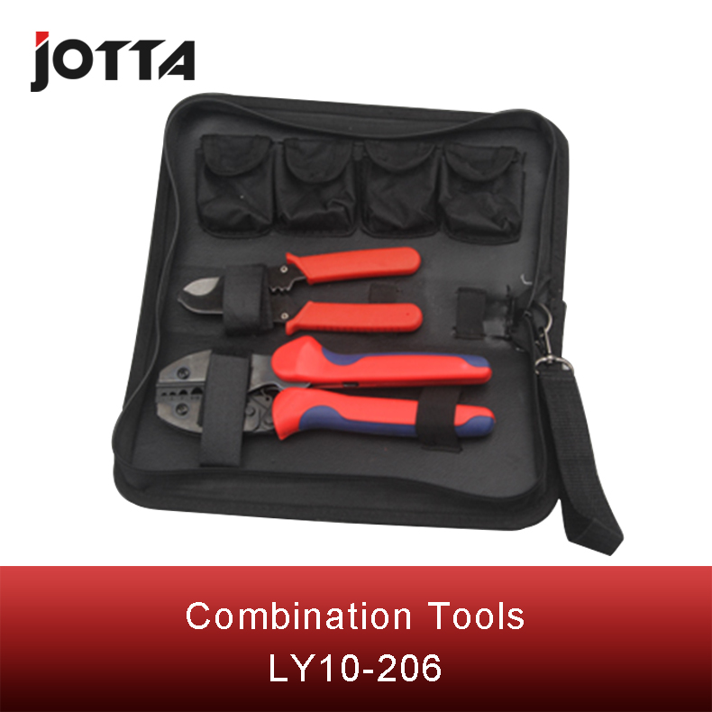 Купить с кэшбэком LY10-206 mini combination tool including1 pcsLY-10 terminal crimpingplier1pcsWX-206cablestripperfourtypesofcrimping moduleS35WF