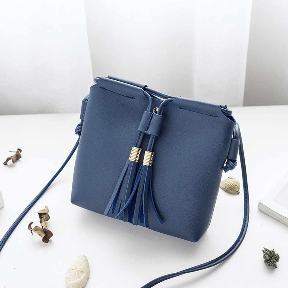 Mode Vrouwen mini schoudertas handtas solid tassel eenvoudige Elegante designer Veelzijdige telefoon portemonnees Messenger Bag crossbody bag