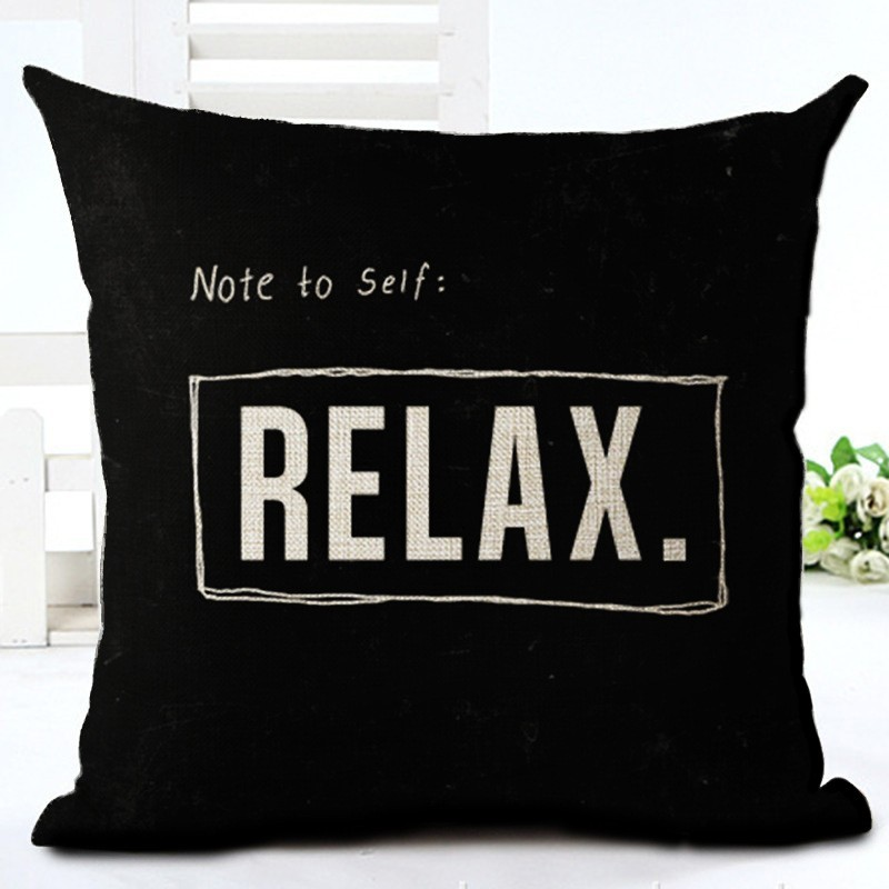 Fashion Style Black And White lines Chair Cushion Decor Cojines Sofa Throw Pillow Printed Cotton Linen Square Fundas 2