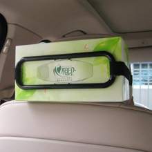 Tissue Box Holder at Sun Visor or Seat Back