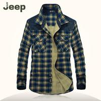 100 Cotton Men Plaid Shirts Original Brand AFS Jeep New 2015 Long Sleeve Shirt For Spring