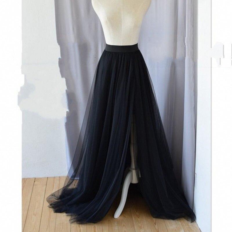 3fbd9434199 Mode -Bourgogne-Longue-Tulle-Jupes-Pour-Demoiselle-D-honneur-Sexy-C-t-de-Split-Noir- Femmes.jpg