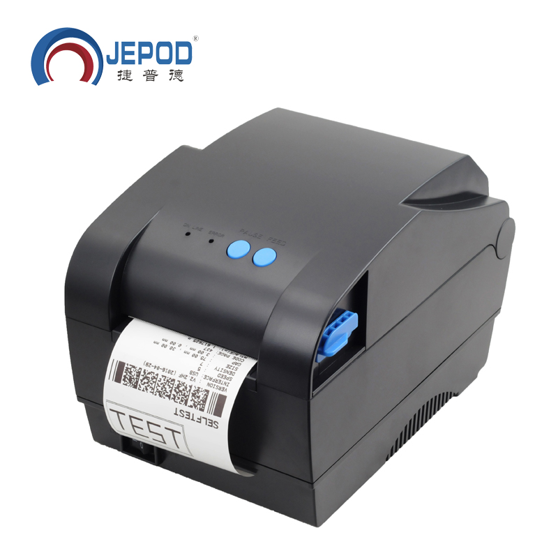 XP-365B JEPOD Label Barcode Printer Thermal Receipt Printer Label Printer 20mm To 80mm Thermal Barcode Printer
