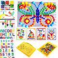 3D Kids Mosaic Mushroom 296pcs Nails Plug Beads Puzzles Game Assembled Toy