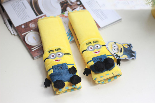 Wondrous Us 7 14 13 Off Minions Car Interior Decoration Accessories Short Plush Cartoon Steering Wheel Cover Car Seat Belt Covers Car Neck Pillow Set In Andrewgaddart Wooden Chair Designs For Living Room Andrewgaddartcom