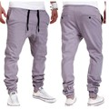 Spring Fashion New Men's Low Crotch Baggy Pants Mid Waist Slim Fit Casual Trousers Size M-3xl Free Shipping gray black