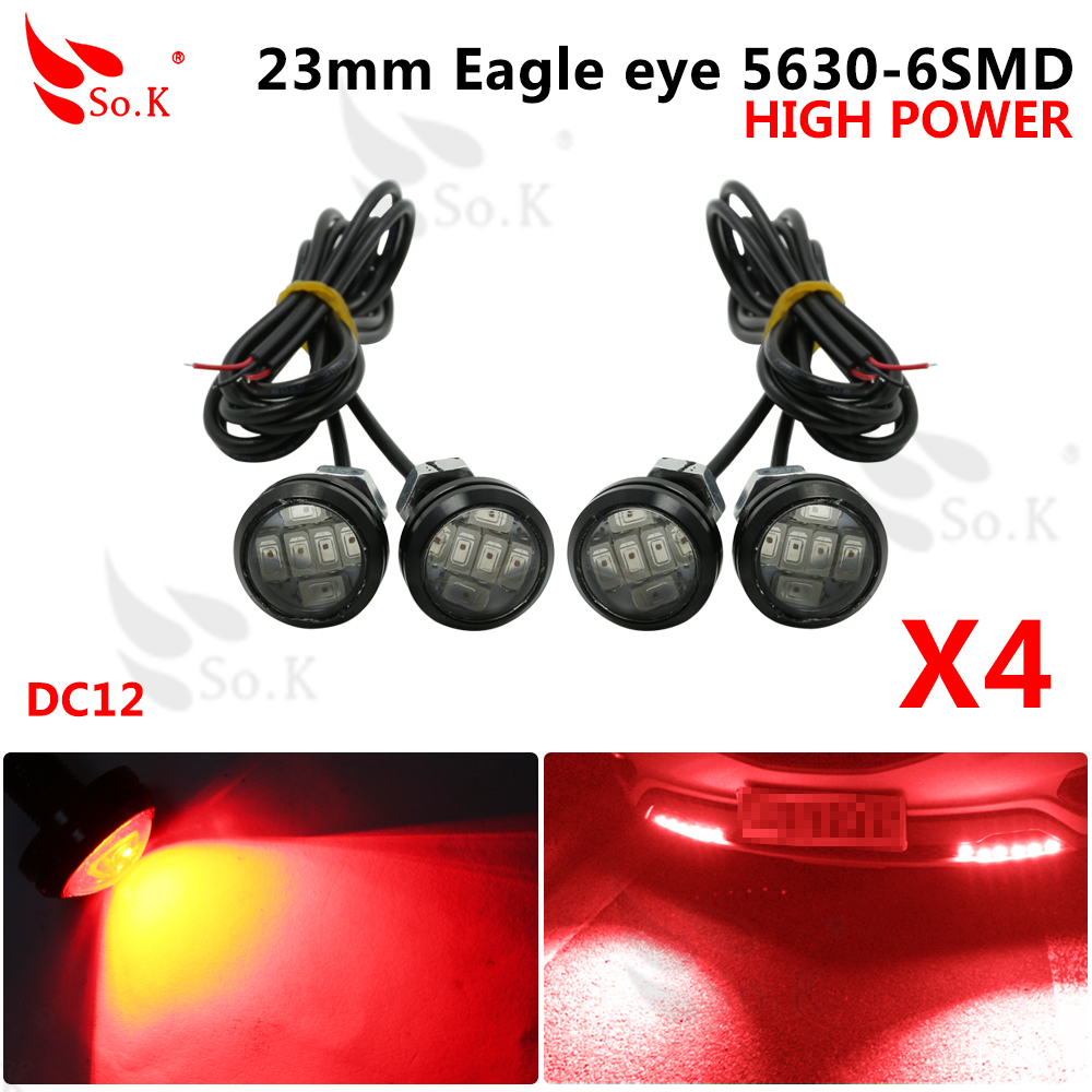 4pcs / Lot Super Bright Led Car Fog Lamp Waterproof 1000LM 10W DRL Eagle Eye Light Daytime Running Reverse Backup Parking 2pcs led car fog lamp super bright 1000lm waterproof drl eagle eye light external lights daytime running lights