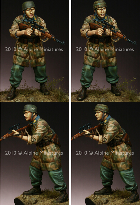 Resin Kits 1 16 Scale 1 16 world war two Fallschirmj ger Sniper with 2 heads