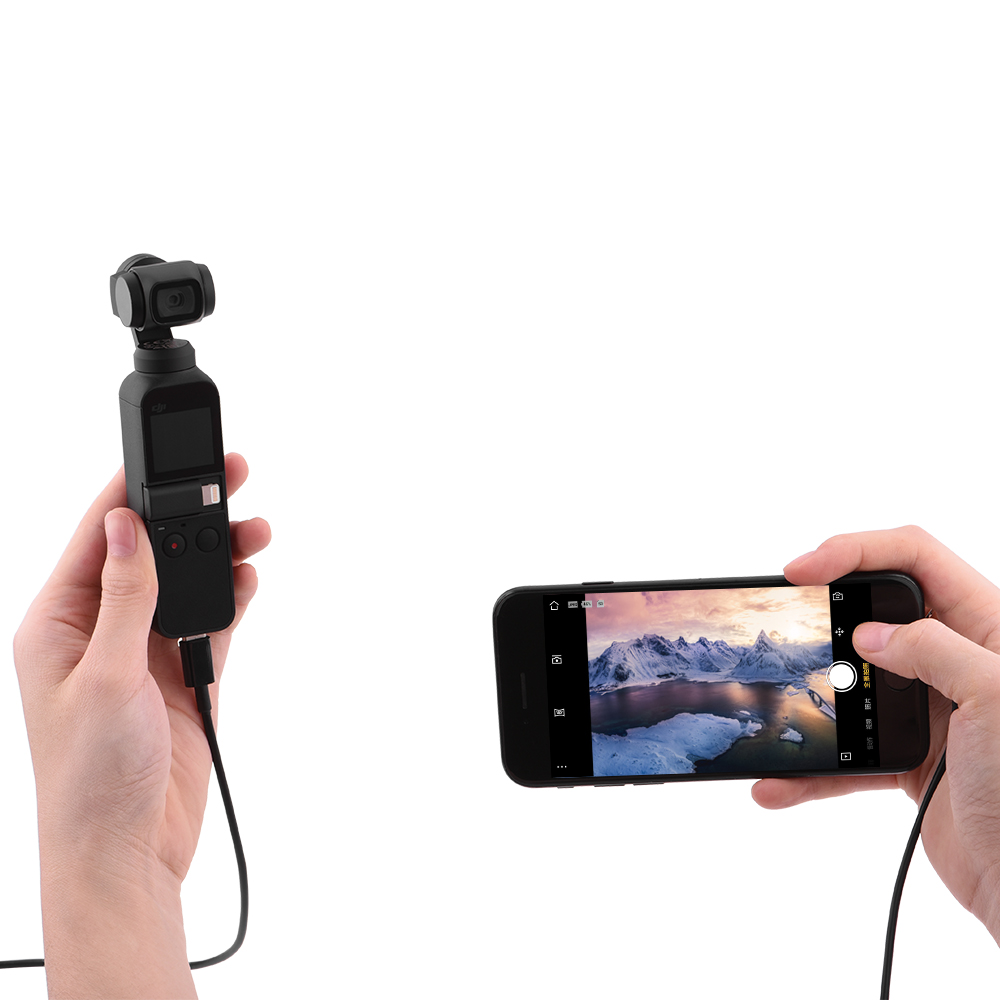 DJI Osmo Pocket Type-c To Type-c Android IOS Phone Micro-USB Data Line 1 M  Connect Extension Cable Handheld Gimbal Accessories