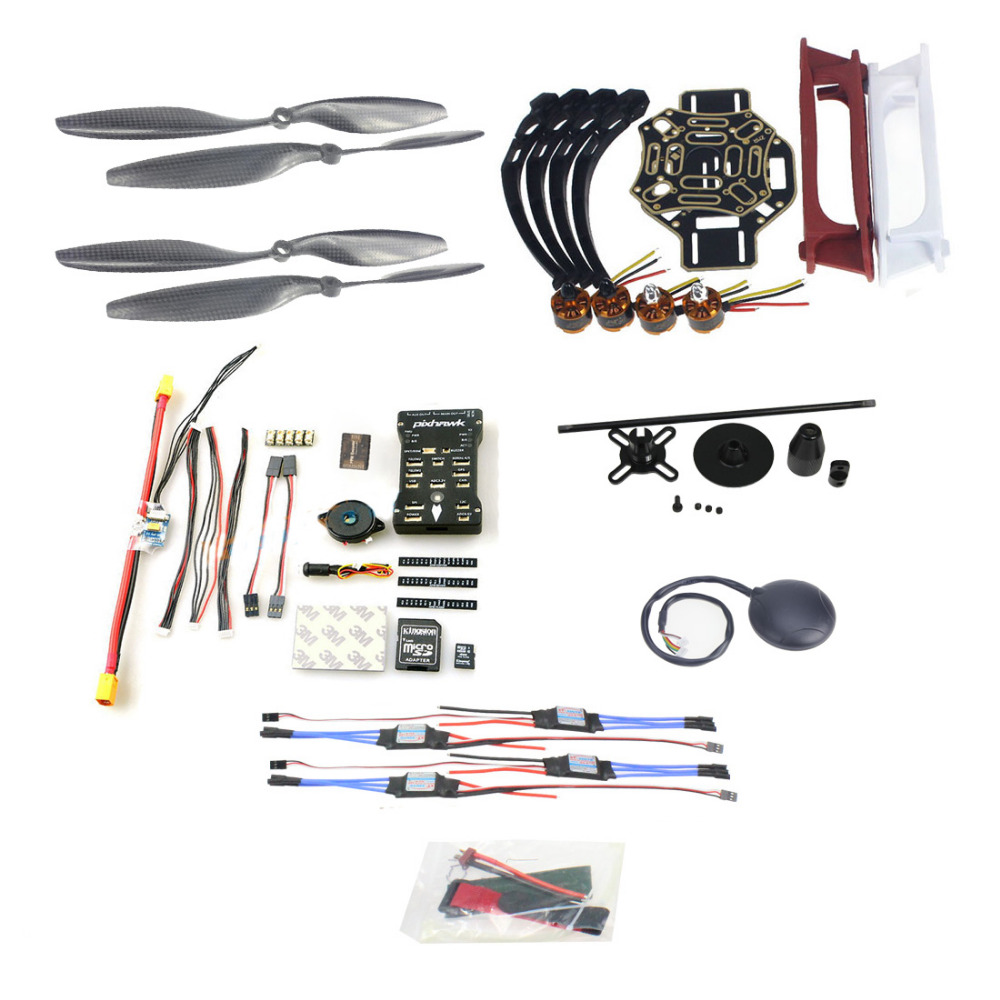 DIY FPV Drone Quadcopter 4-axle Aircraft Kit F450 450 Frame PXI PX4 Flight Control 920KV Motor GPS 1043 Propes 30A ESC F02192-AD diy set pix4 flight control zd850 frame kit m8n gps remote control radio telemetry esc motor props rc 6 axle drone f19833 d