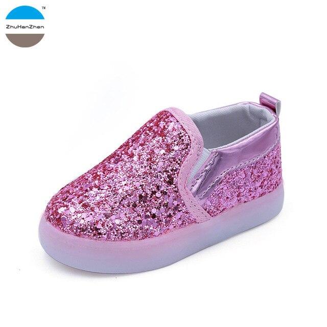 e1400e610d0c0 2018 1 à 5 ans lumière LED up enfants chaussures décontractées bébé garçon  et fille chaussures