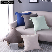 Christmas Solid Color Cushion Covers 100 Cotton Sequin Pillow Cover For Sofa Bed Nordic Decorative Pillow