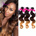 Kunna Hair 1 Bundles ProductsOmbre Malaysia Virgin Hair Body Wave Ombre Malaysia Weave 7A Ombre Virgin Hair Extension