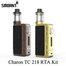 Electronic Cigarette Kit Vape Box Mod Smoant Charon TC 218 RTA Kit E Hookah Vaporizer E Cigarette with Battlestar RTA Tank X2076