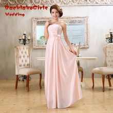 Evening Dress Long Custom Made Pink Design Formal Gown 2017 wedding party special occasion vestidos de fiesta Dresses