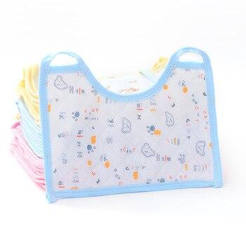 10PCS 21*15CM Cartoon Newborn Baby Bibs Waterproof Adjustable 100% Cotton Feeding Baby Saliva Towel For 0-24 Months