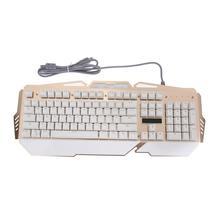 Professional 104 Key Wired Keyboard Waterproof Dustproof Gaming Blue Switch Adjustable LED Backlight Mechanical Keyboard