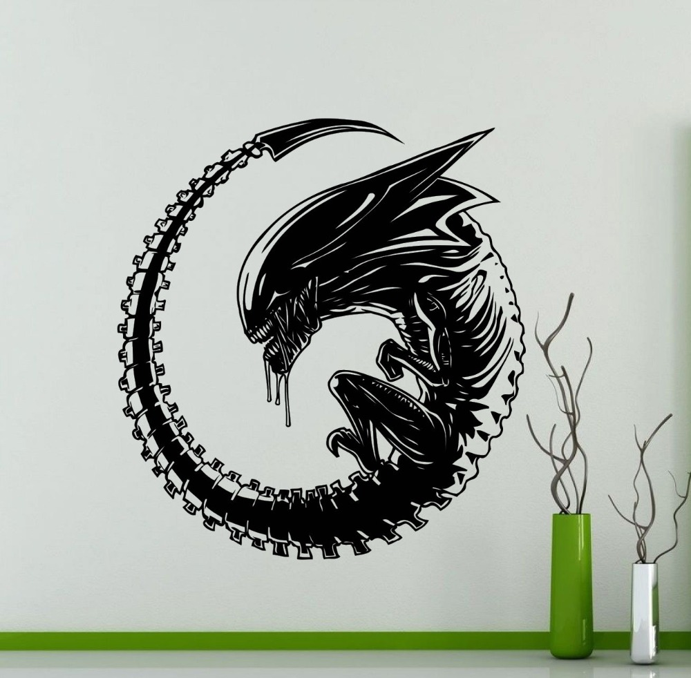Creative Alien Wall Decal Monster Movie Vinyl Sticker Art Decor Home Decorative on pegatinas NY-313