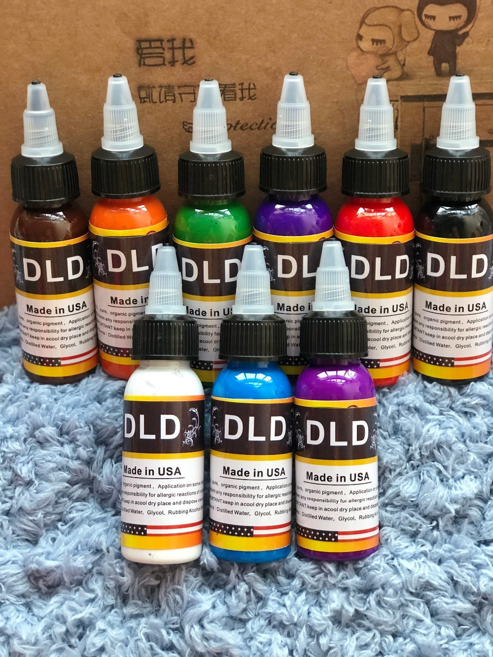 DLD 8 Color Permanent Line Professional Tattoo Ink Pigment 30ml ...