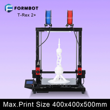FORMBOT Newest 3D Printer with Fast-replaceable Hotend and KEENOVO Twin Zone Heating Plate