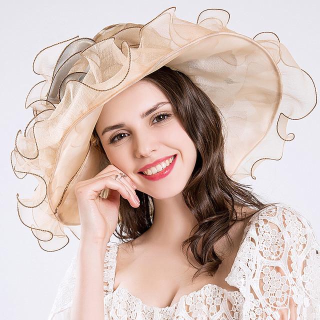 CRUOXIBB Elegant Fashion Women's Sun Hat Design Flower Europe Style Net Yarn Women Summer Hat Gorra Wedding Wide Brim Sea Beach