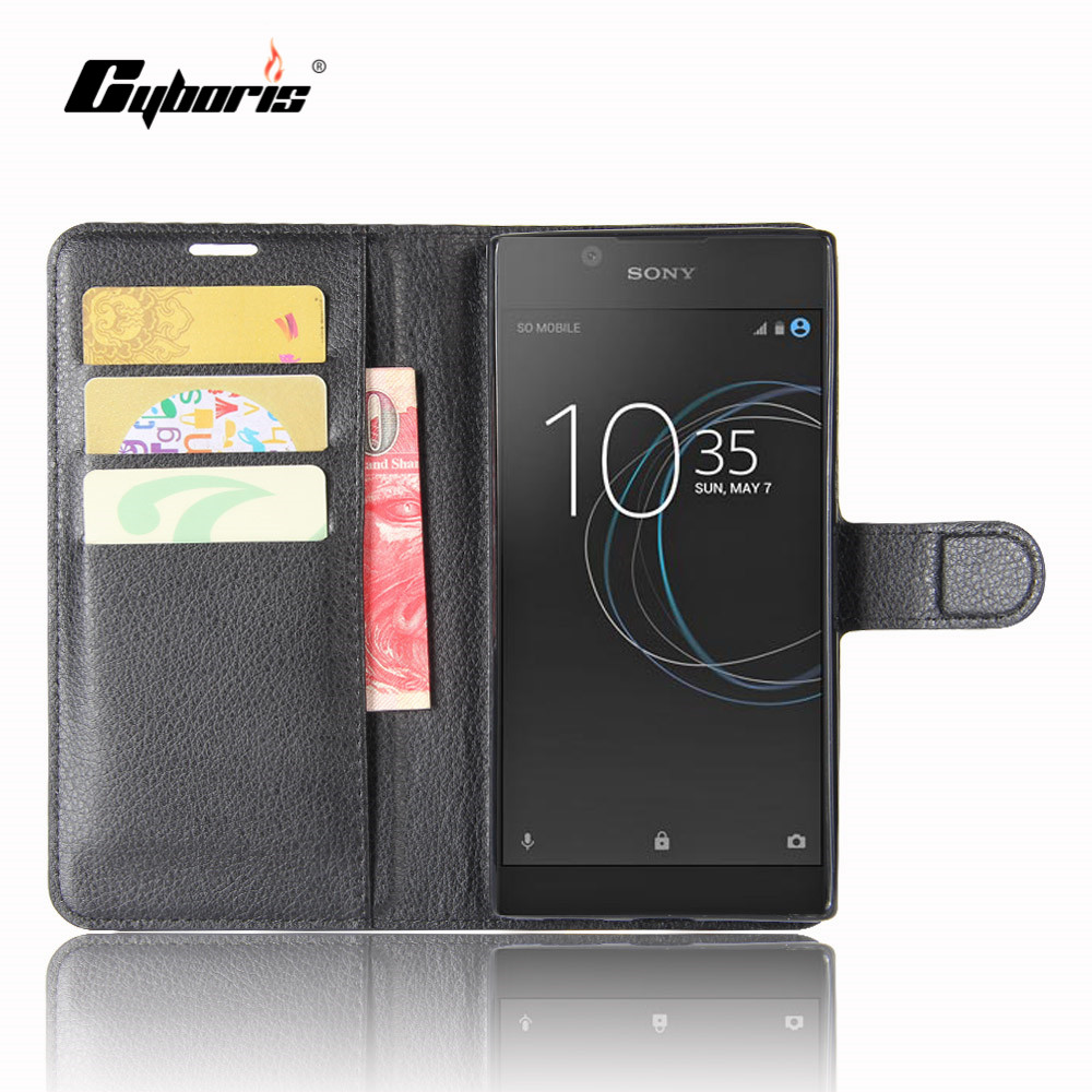 CYBORIS for Sony <font><b>Xperia</b></font> <font><b>L1</b></font> <font><b>Case</b></font> Leather <font><b>Phone</b></font> Cover for Sony <font><b>Xperia</b></font> <font><b>L1</b></font> Flip Cover Stand Wallet Bag Card Holder