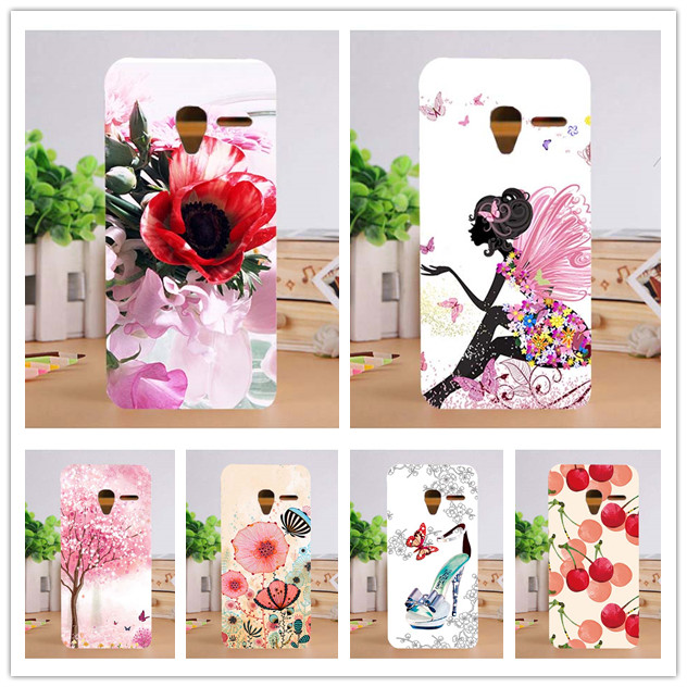 Painted DIY Beautiful Flowers 10 Patterns Cases Back Cover For Alcatel One Touch Pixi3 Pixi 3 4 inch 4.0 OT 4013X 4013D Case