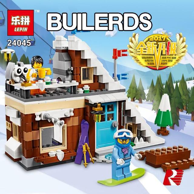 Lepin 3 In 1 Series Ski Resort 24045 Building Blocks Bricks Educational  Toys For Children Birthday