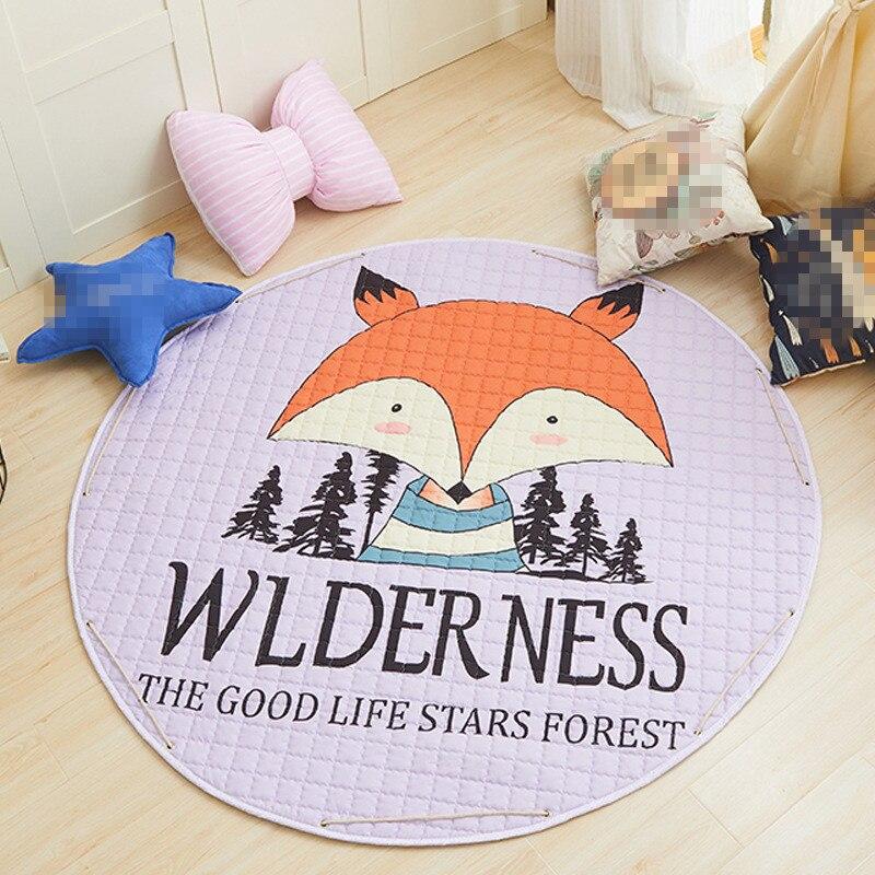 Nouveau tapis décor à la maison enfants chambre tapis 150*150cm bébé jouer tapis Patchwork pique-nique couverture ANITSLIP tapetes garçons tapis en plein air tapis