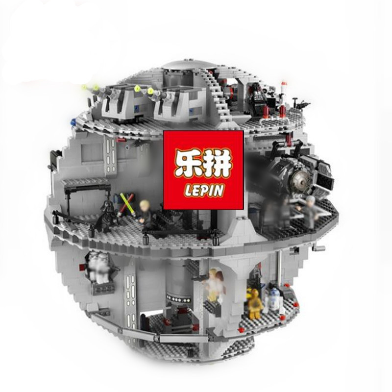 Lepin Stars Series War 3804pcs Death Star Model Building Kits Blocks Bricks Compatible 10188 Children Toys Gift lepin 05035 lepin 05077 stars series war the ucs rupblic set star destroyer model cruiser st04 diy building kits blocks bricks children toys