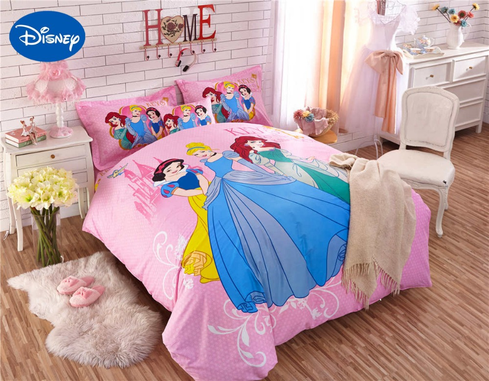 Princess comforter bedding set single twin full queen size bed sheets duvet covers cotton fabric - Twin size princess bed set ...