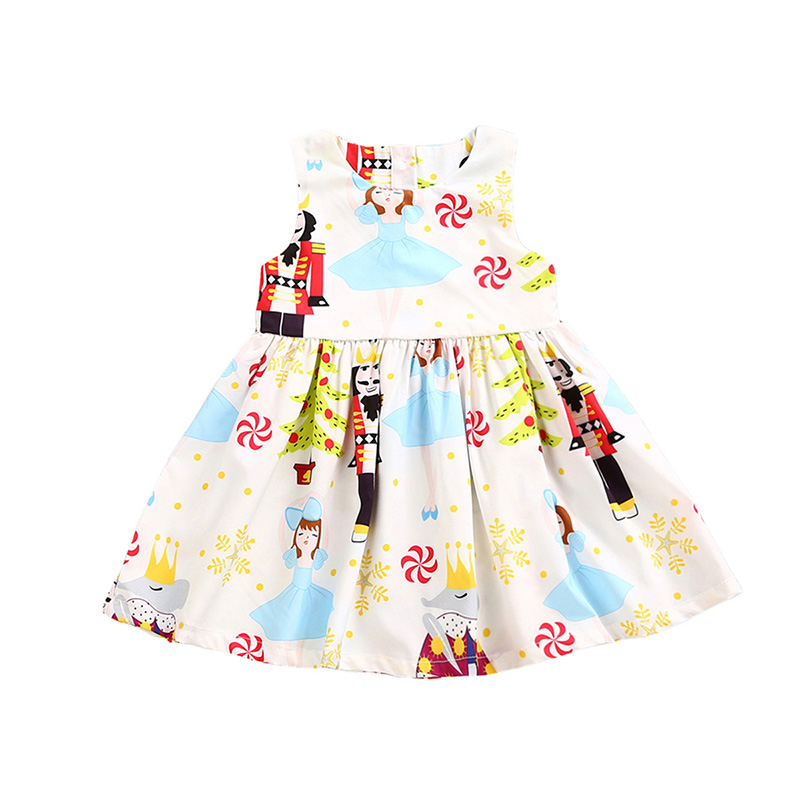 2017 Halloween Girls Dress Sleeveless Princess Print Party Dresses Toddler Kids Baby Girl Clothes Tutu Festival Vestidos Outfits new summer toddler kids baby girls floral sleeveless princess dress flower tutu party dresses