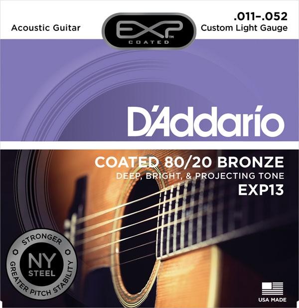 D'Addario EXP gecoate 80/20 Bronze akoestische gitaarsnaren, EXP10 - Muziekinstrumenten - Foto 4
