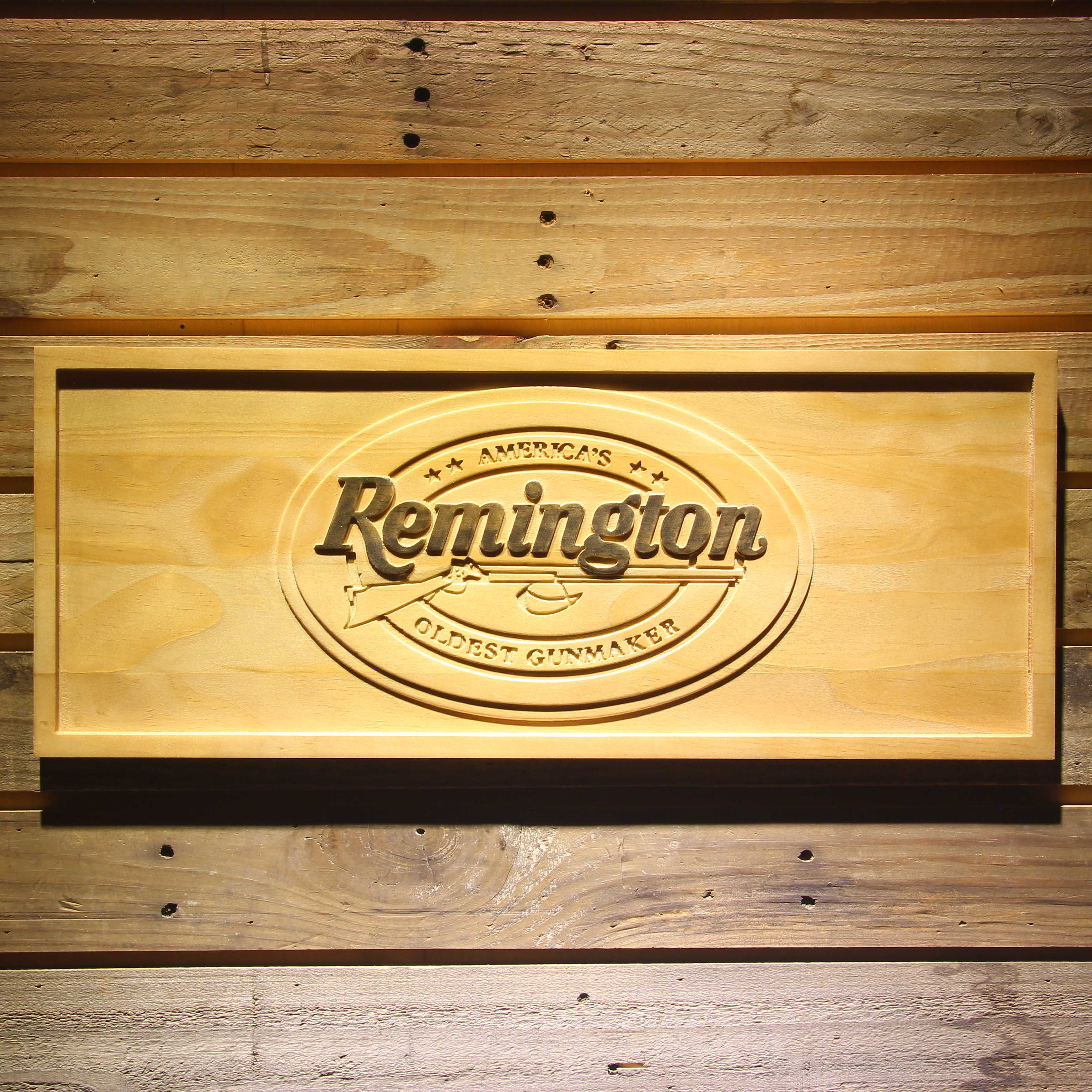 Remington 3D Wooden Bar Signs-in Plaques & Signs from Home & Garden    1
