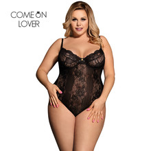 Sheer Lace White Black Sexy Plus Size Bodysuit