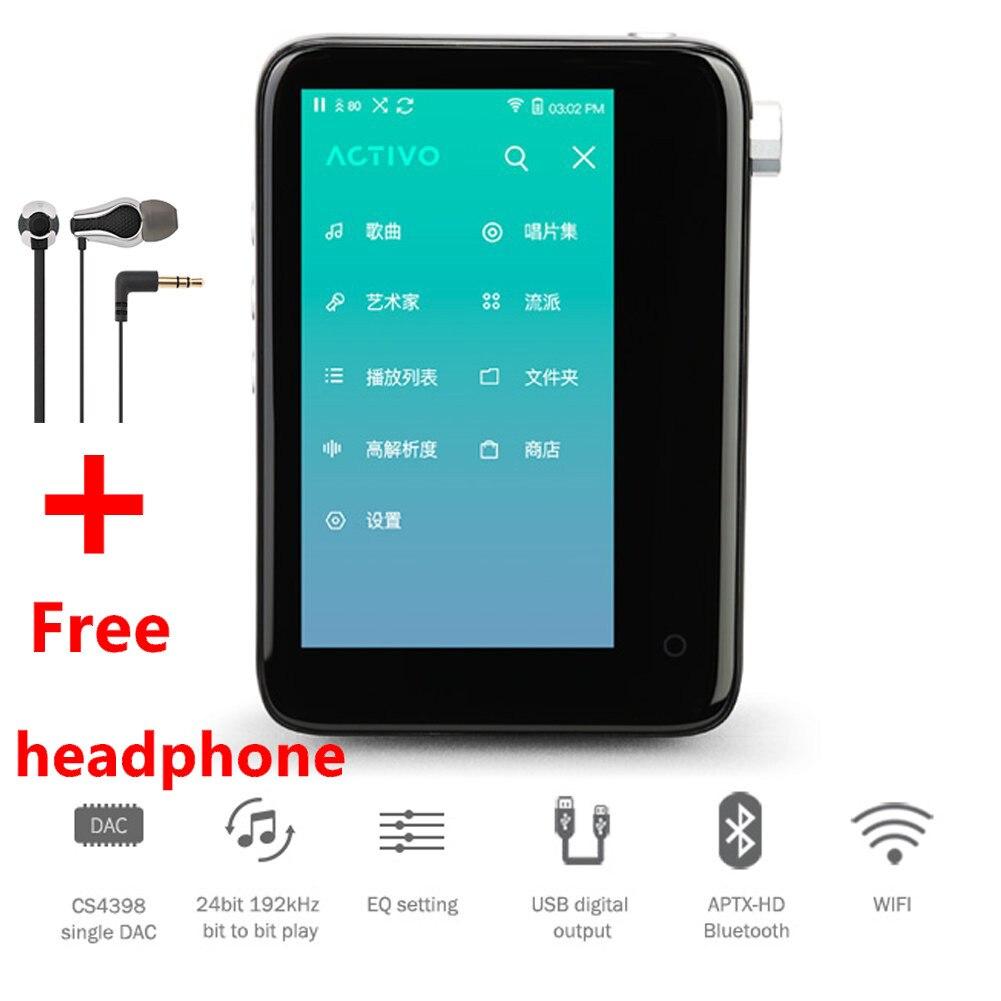 IRIVER ACTIVO CT10 lecteur de musique Portable haute résolution lecteur MP3 HIFI sans perte écran tactile 3.4