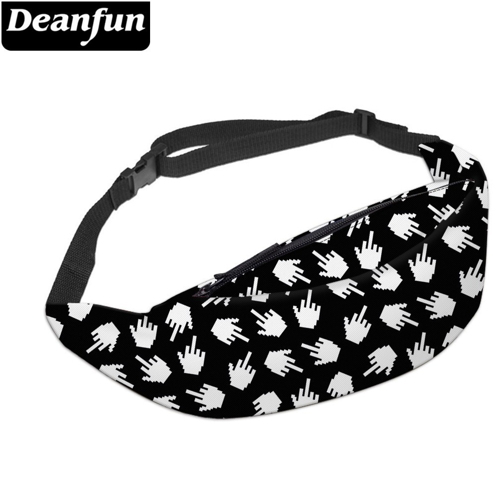 Deanfun 3D Printed Waist Bags Unisex Polyester Fanny Hip Bum Bags For Women YB10