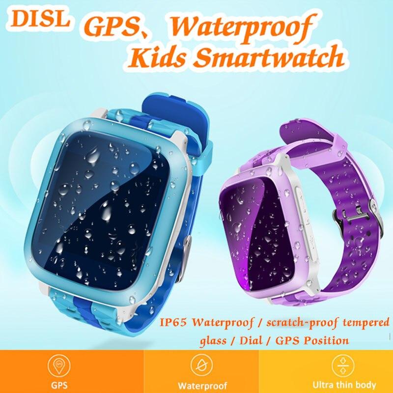 Enfants montre intelligente bébé Anti-perte montre écran tactile SOS cadran appel GPS pour enfant moniteur de sécurité carte SIM intelligente Smartwatch