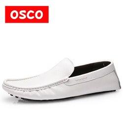 Mocassins moda Direto Da Fábrica Estilo de Moda Com a Moda Para Fora Sola de Couro Macio Genuíno Respirável Toda a Temporada Dos Homens Sapatos Casuais
