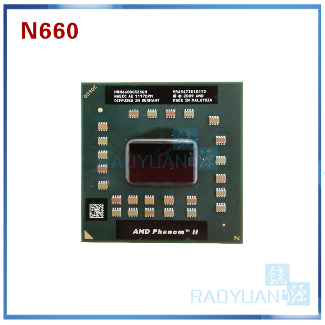 AMD Phenom Dual Core Mobile N660 HMN660DCR23GM 3.0Ghz 35W notebook CPU laptop CPU processor  Socket S1 (S1G4)