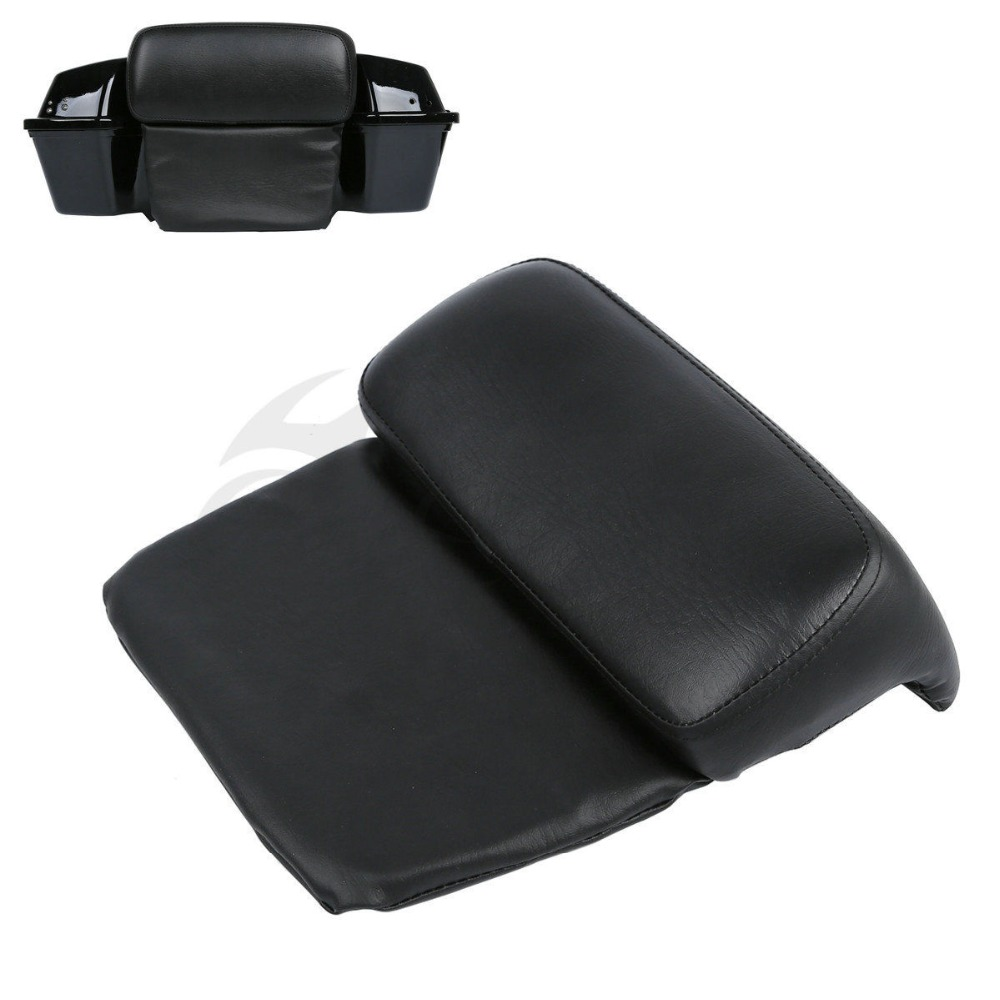 Pillow Pad Backrest Razor Trunk Pack For Harley Touring Road Glide King FLHR FLTPillow Pad Backrest Razor Trunk Pack For Harley Touring Road Glide King FLHR FLT