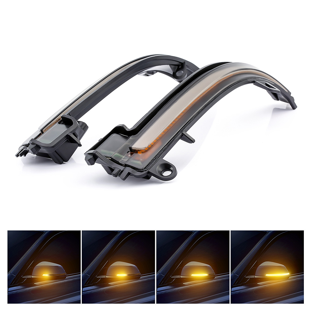 Smoked Side Mirror Sequential Blink Turn Signal Light For BMW 1 2 3 4 Series i3~
