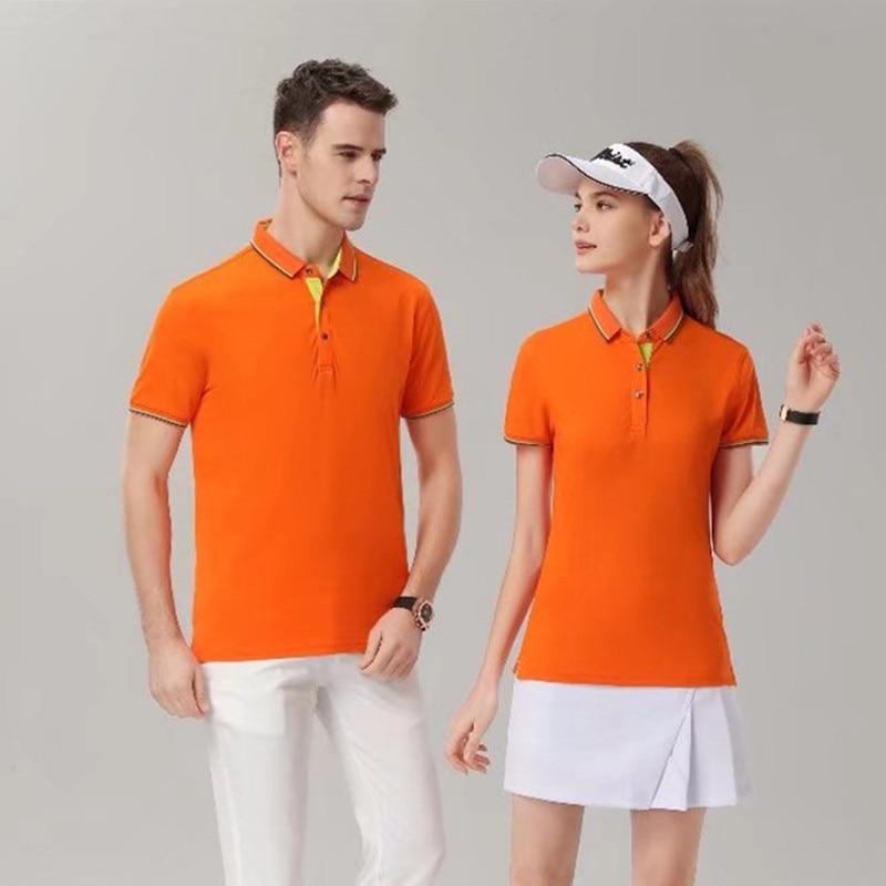 Polo Sports Tops Polo Men Golf Polo Man woman universal Short Sleeve Shirt Summer Tennis Trainning Exercise Polo 7928